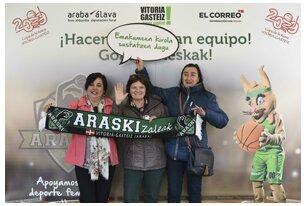 Fotos del jueves 28 de febrero - photocall afición Araski EL CORREO - Copa de la Reina 2019